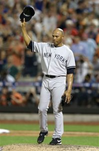 Rivera acknowledges the crowd after entering the 2013 All Star Game in the eighth inning. (Photo: AP)
