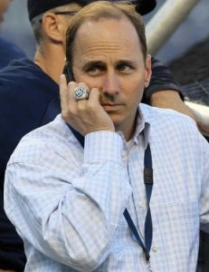 Brian Cashman was busy at the deadline, but the moves he made may have Yankees fans feeling a little disappointed. (Photo:  Jim McIsaac/Newsday)