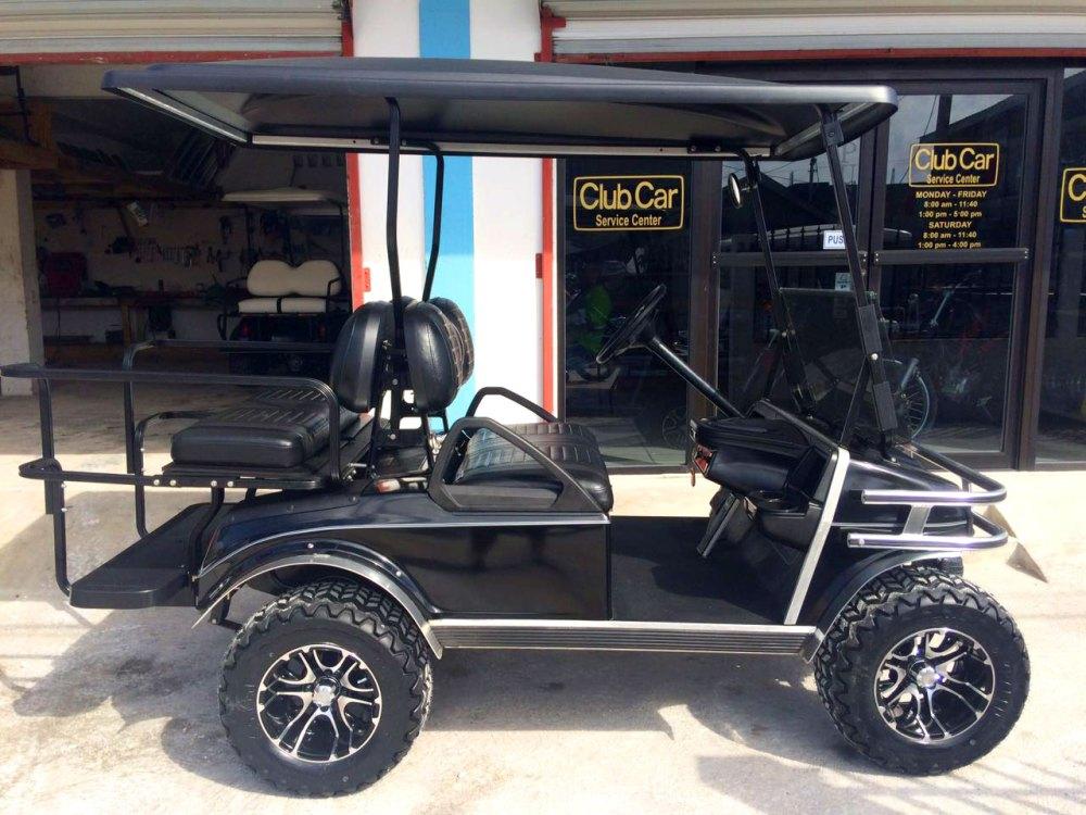 medium resolution of black villager golf cart