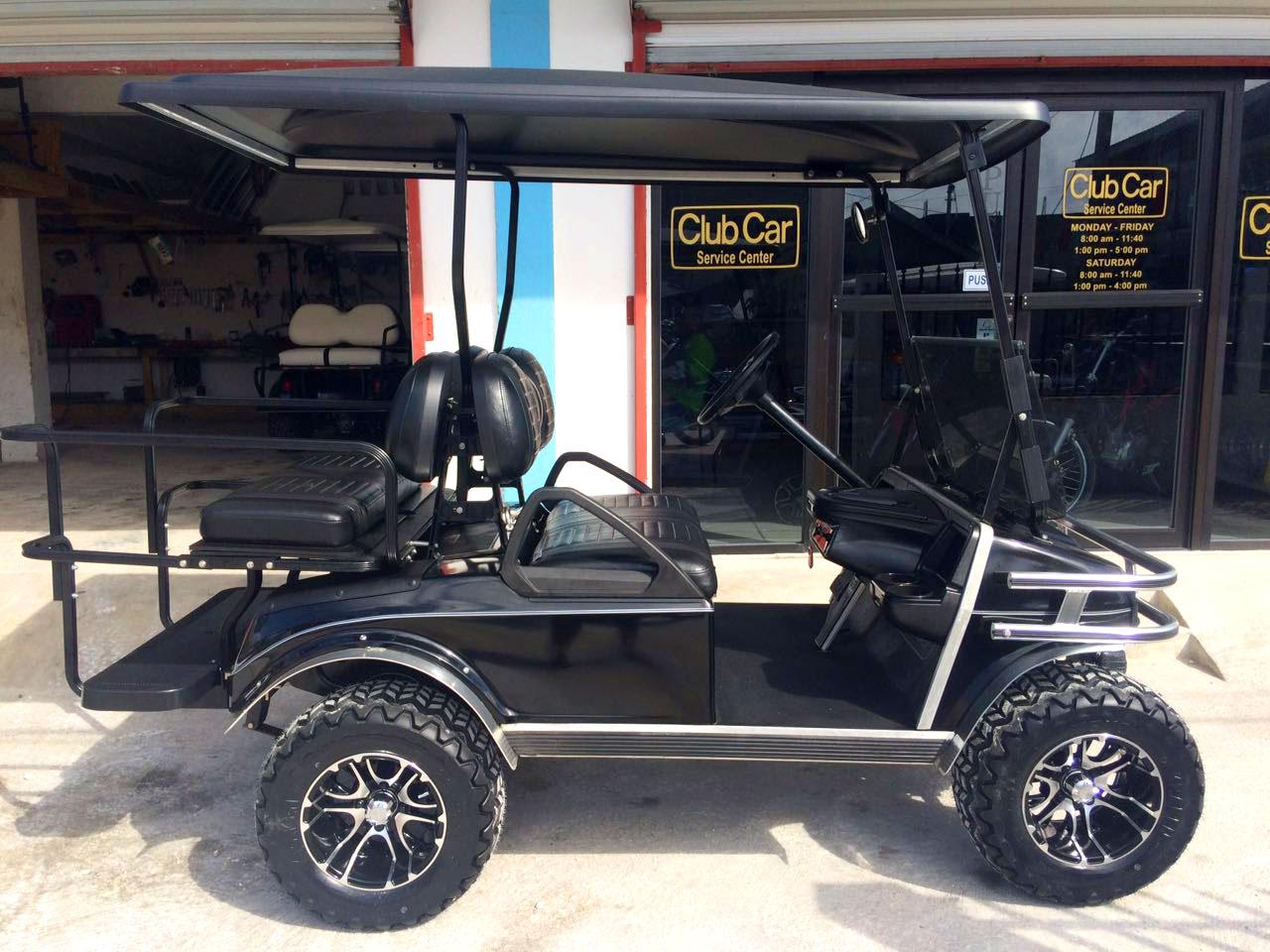 hight resolution of black villager golf cart
