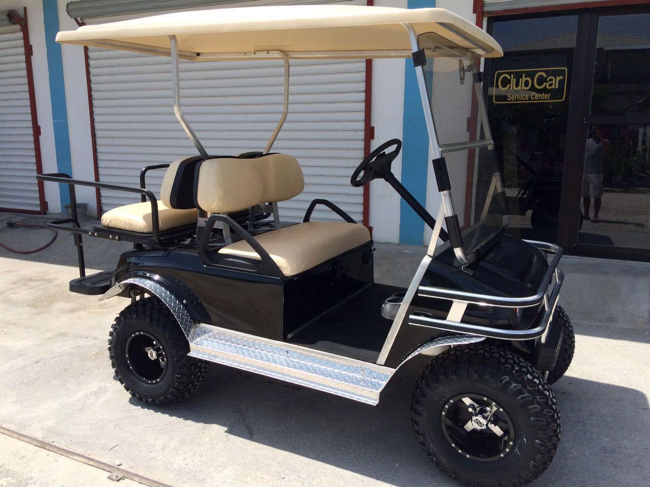 hight resolution of black club car villager golf cart