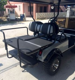 grey villager golf cart with fold back seat [ 960 x 1280 Pixel ]