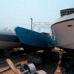 Used Blue 23ft Pelican Boat