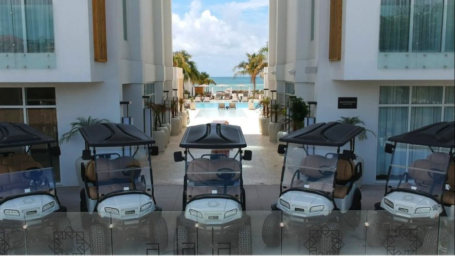 Alaia Resort - New 5 Club Car Onward Golf Carts