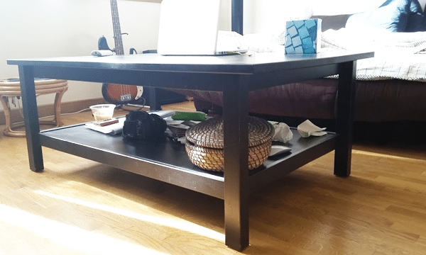 Relooking de la table basse Hemmes ikea