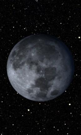 La luna, vista en la galería de fotos.