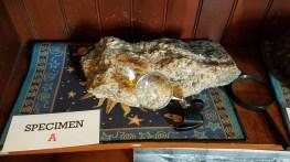 Meteorito en exhibición. Foto: Gustavo Sánchez.