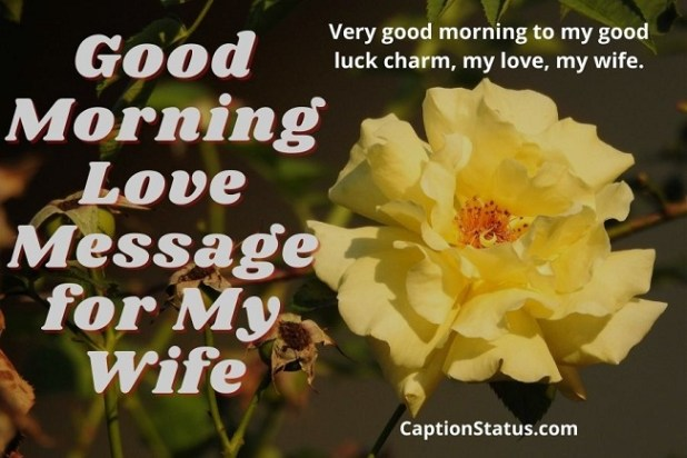 Good Morning Love Message for My Wife