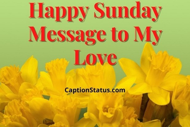 Happy Sunday Message to My Love