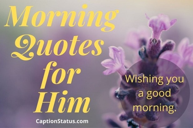 Morning Quotes for Him