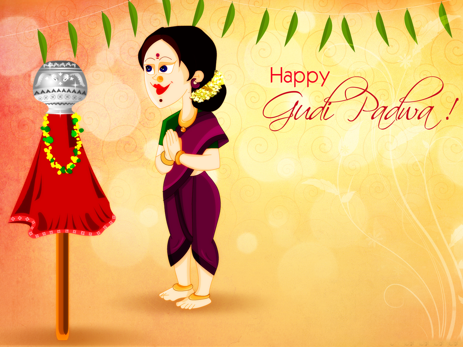 32 Gudi Padwa Captions English & Marathi!