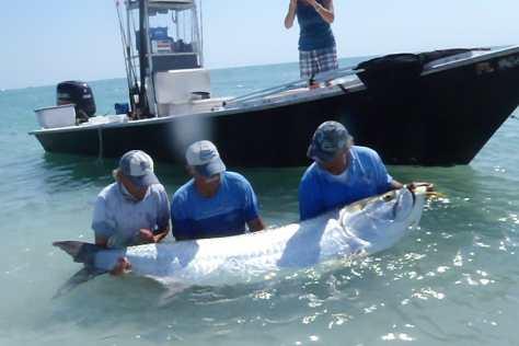 Jimmy Burnsed & Joey Burnsed, Huge Tarpon, May 19, 2011, Boca Grande Pass, Sanibel Fishing & Captiva Fishing.