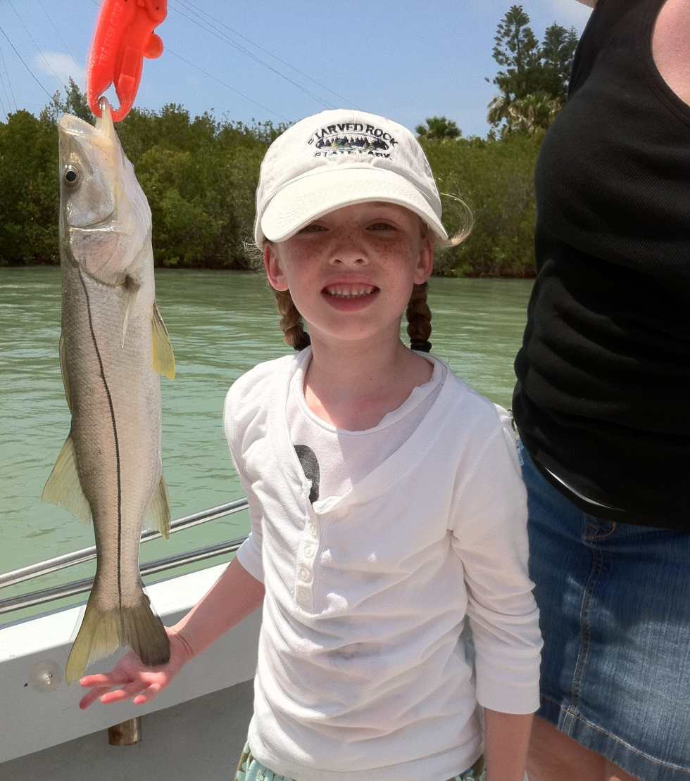 Little Girl, Small Snook, Blind Pass, Sanibel & Captiva Islands & Ft. Myers Charters & Fishing Guide Service.