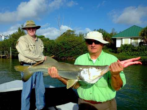 Snook caught in Blind Pass, Sanibel & Captiva Islands & Fort Myers Charters & Fishing Guide Service.