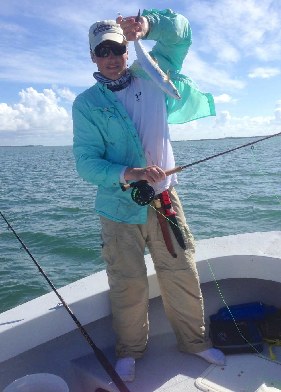 Fly Fishing, Spanish Mackerel 7-7-14, Sanibel & Captiva Islands & Fort Myers Charters & Fishing Guide Service.