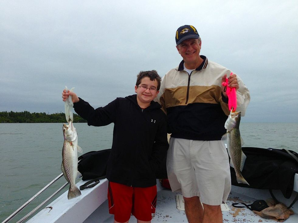 Sea trout, 9-23-14, Sanibel & Captiva Islands & Fort Myers Charters & Fishing Guide Service.