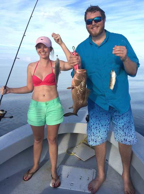 Grouper & Snapper, 1-1-15, Sanibel Fishing & Captiva Fishing & Fort Myers Fishing Charters & Guide Service.