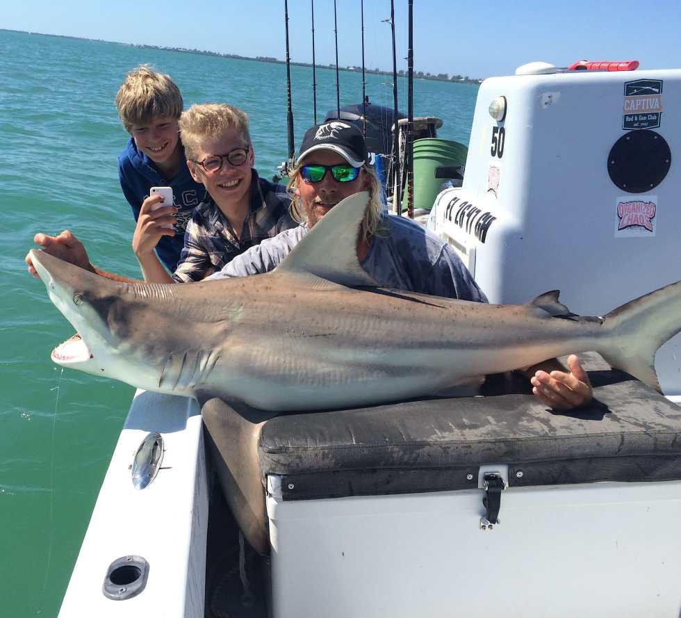 Captiva Fishing, Blacktip Shark 4-4-15, Sanibel Fishing & Captiva Fishing & Fort Myers Fishing Charters & Guide Service.