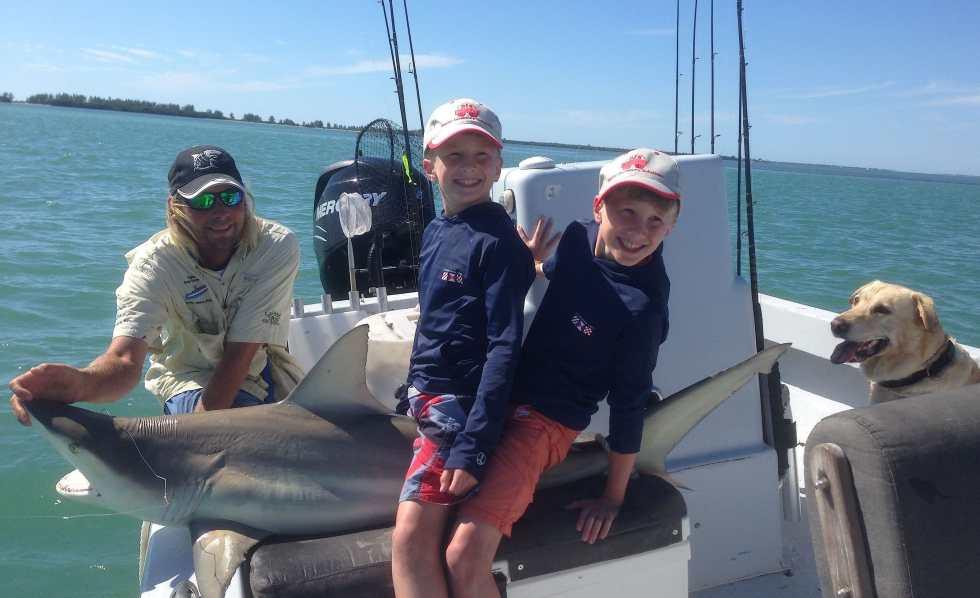 Captiva Fishing, Blacktip Shark 4-2-15, Sanibel Fishing & Captiva Fishing & Fort Myers Fishing Charters & Guide Service.