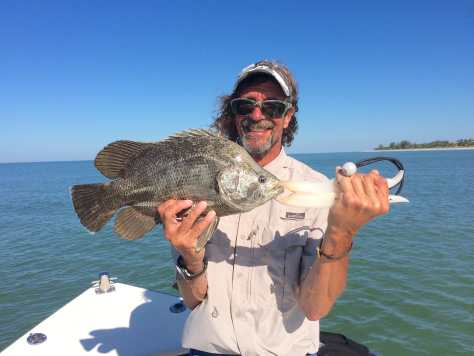 Tripletail, Patrick, Sanibel Fishing & Captiva Fishing, Monday, November 7, 2017, [File Photo - Wednesday, May 25, 2016].