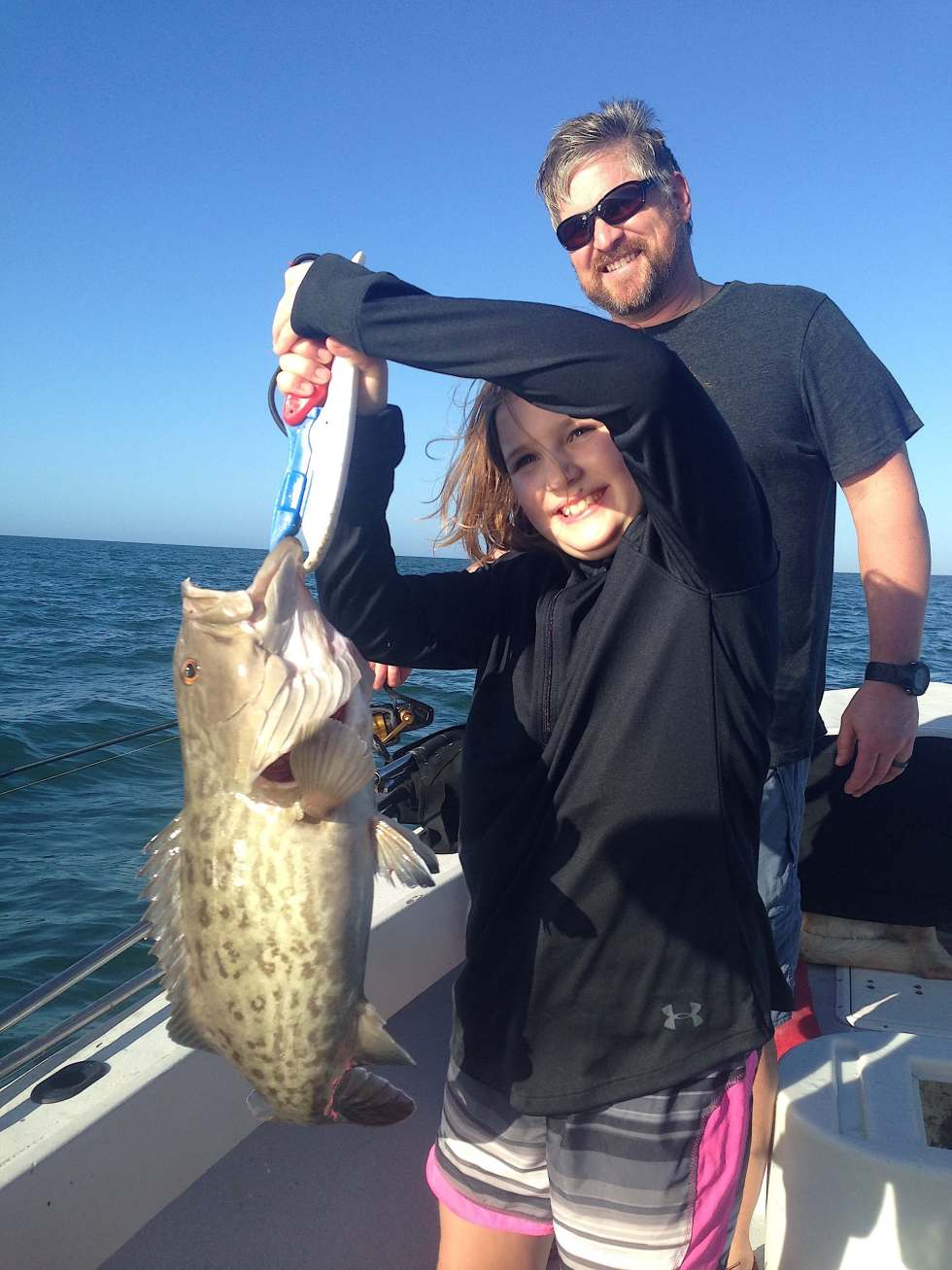 Grouper, Sanibel Fishing & Captiva Fishing, Sanibel Island, Tuesday December 27, 2016.