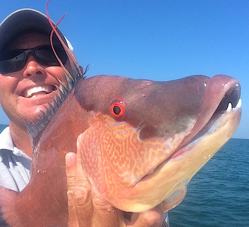 Jimmy Burnsed & Hogfish, Respective Tooth Views, Catch & Release, Sanibel Fishing & Captiva Fishing, Sanibel Island, Tuesday, March 21, 2017.