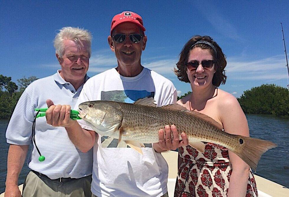 Redfish, Catch & Release, Sanibel Fishing & Captiva Fishing, Sanibel Island, Friday, January 5, 2018 [File Photo Friday, September 8, 2017].