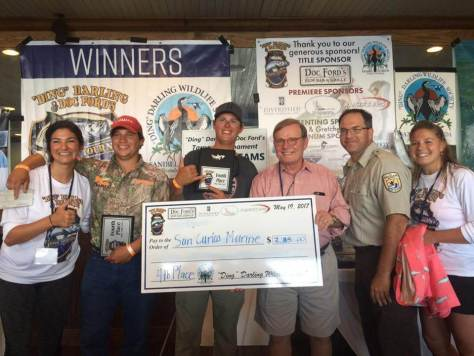 """Team San Carlos Marine, 4th Place, 6th Annual """"Ding"""" Darling & Doc Ford's Tarpon Tournament & Takes Home $2,765.00, Saturday, May 20, Captiva Island. Photo Courtesy Of """"Ding"""" Darling & Doc Ford's Tarpon Tournament."""