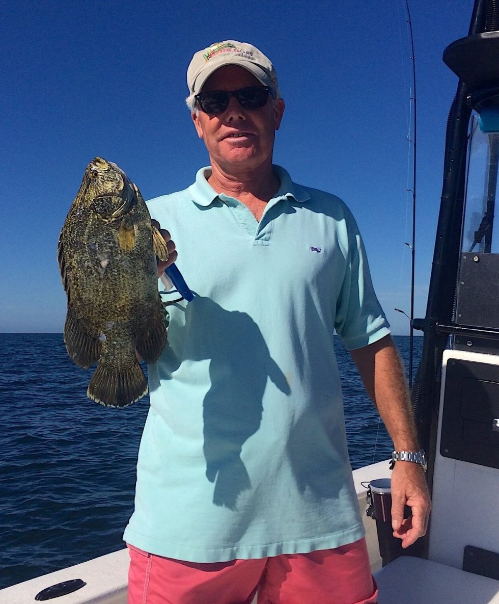 Tripletail, Chuck, Catch & Release, Sanibel Fishing & Captiva Fishing, Sanibel Island, Monday, November 6, 2017.