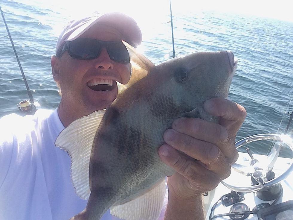 Jimmy, Triggerfish, Offshore, Sanibel Fishing & Captiva Fishing, Sanibel Island, Friday, December 22, 2017.
