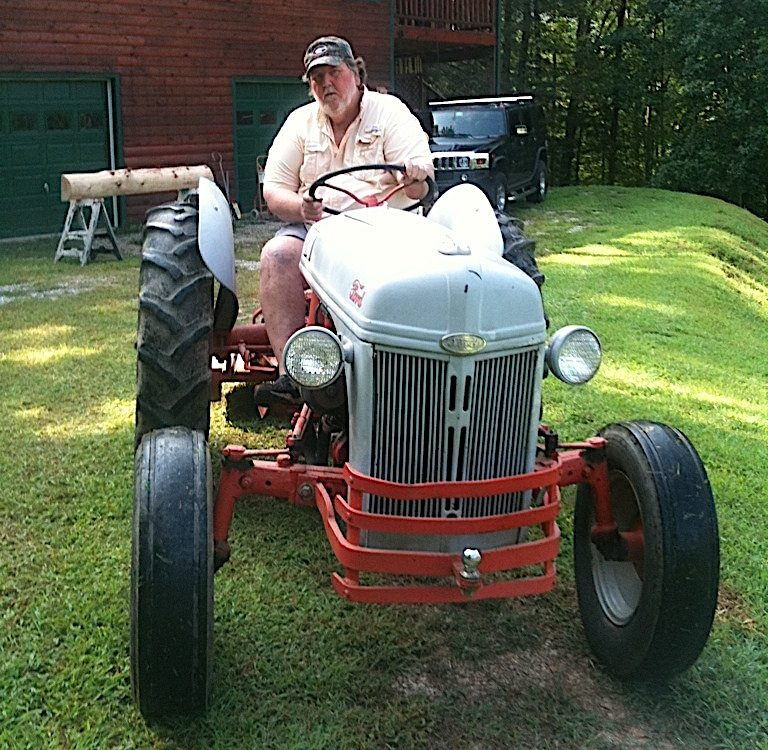 Joe Burnsed and his Ford tractor in Georgia.