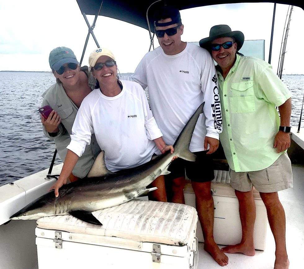 Blacktip Sharks, Catch & Release, Sanibel Island Fishing Charters & Captiva Island Fishing Charters, Sanibel Island, Tuesday, July 10, 2018.