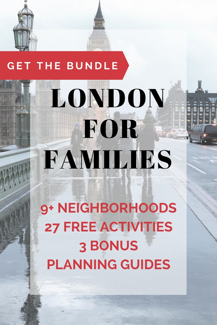 London for Families City Guide Bundle offers 33 free London activities, 19 Street Market Resources, 35 sites to budget for & pre-book and 20 memorable moment resources for kids. You can visit London on a travel budget. Buy the 9 neighborhood London for Families City Guide and also get 3 free bonuses.