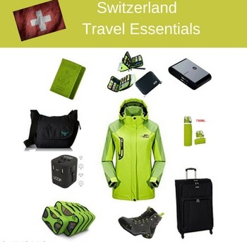 Switzerland Travel Essentials. Pack less travel more & have more fun with the right gear for your trip. #TravelGear #SwissTrip