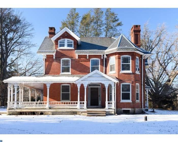 1886 Brick Victorian Farmhouse For Sale In West Grove Pennsylvania