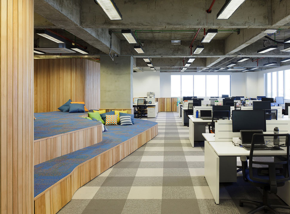 big lots kitchen chairs tile backsplash for walmart.com headquarters in sao paulo by estudio guto ...