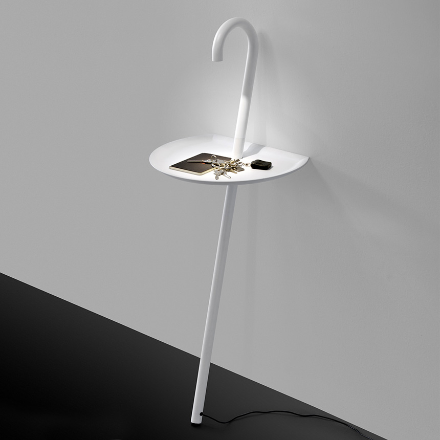 Clever Side Table Lamp Combo by Martinelli Luce Clochard