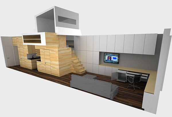 Small Apartment Design Solutions for a Narrow Space