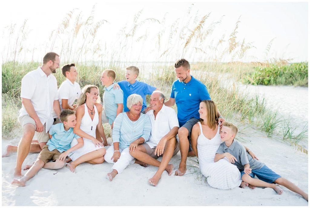 family vacation beach photos