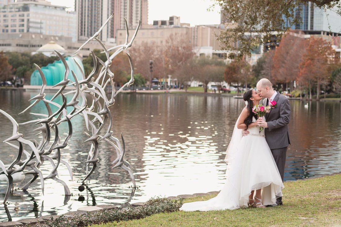 Intimate Wedding Photography  Lake Eola Orlando