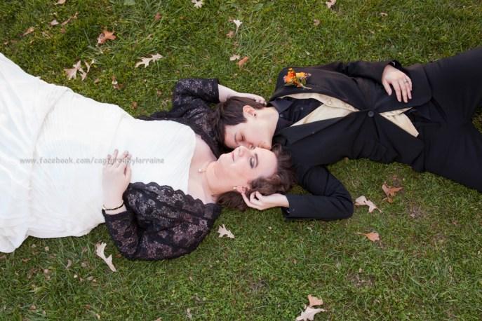 Wedding Bride LGBT Gay Fall