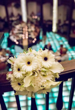 Wedding Hotel Baker Flowers rainbow room