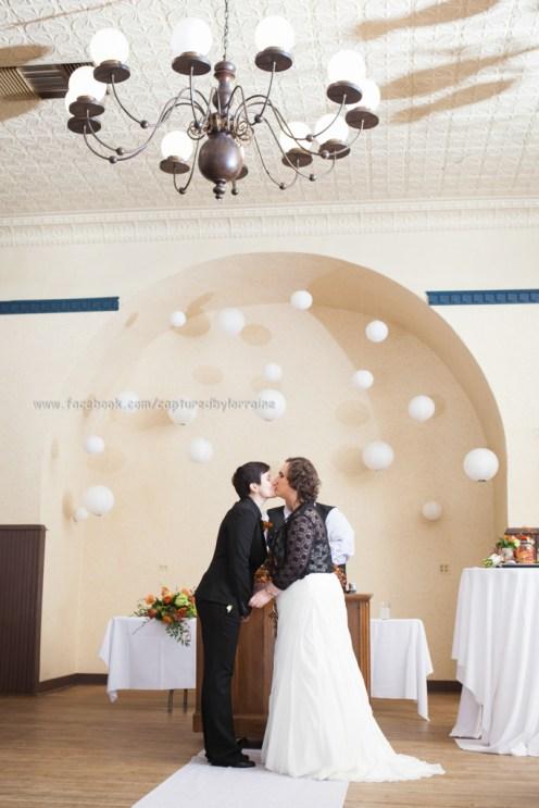 Wedding Bride First Kiss LGBT Gay