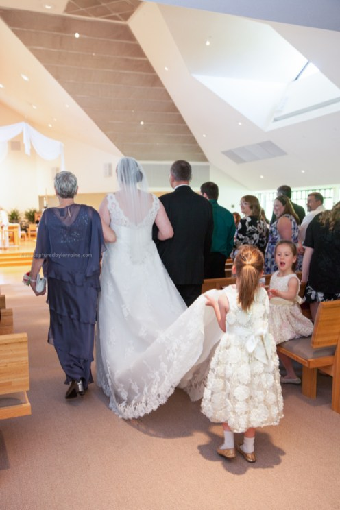Bride walk down aisle