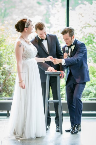 Morton Arboretum Wedding , Ring Exchange