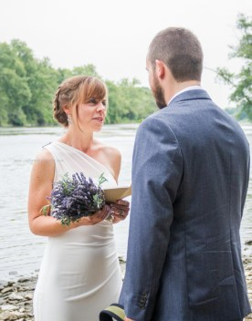 River wedding vows bride groom