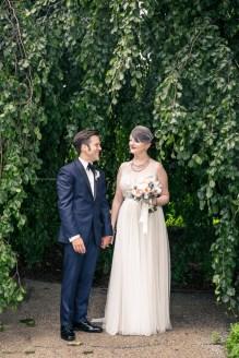 Morton Arboretum Wedding, Bride and groom portraits