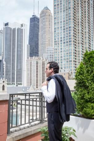 Groom getting ready, Chicago Wedding