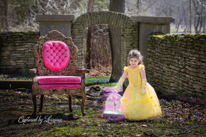Beauty and the Beast photoshoot children photographer geneva il
