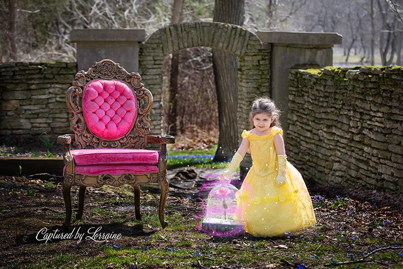 Beauty and the Beast photoshoot children photographer geneva il